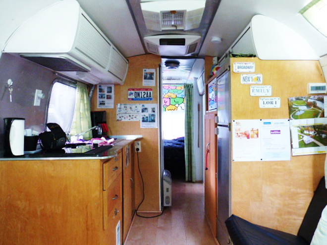 Interieur caravane airstream