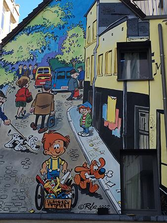 Street Art BD boule et Bill Bruxelles