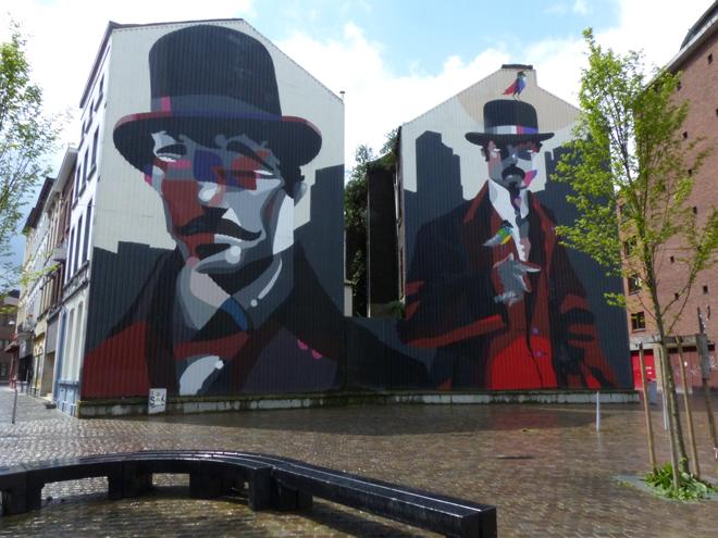 Street art dans le centre-ville de Charleroi
