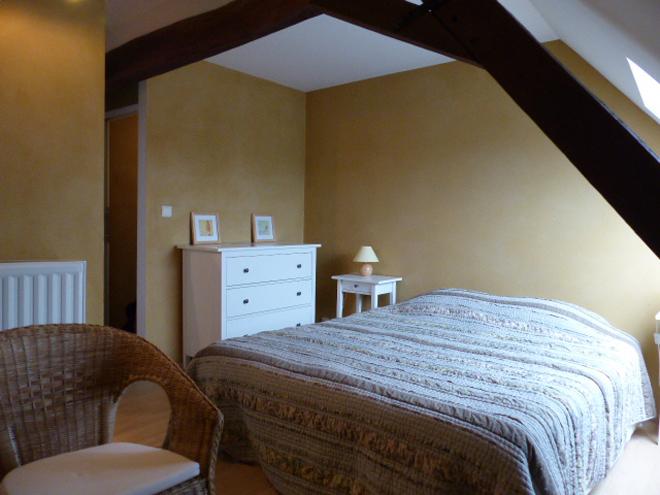 Notre chambre dans le gîte rural Confluences près de Charleroi