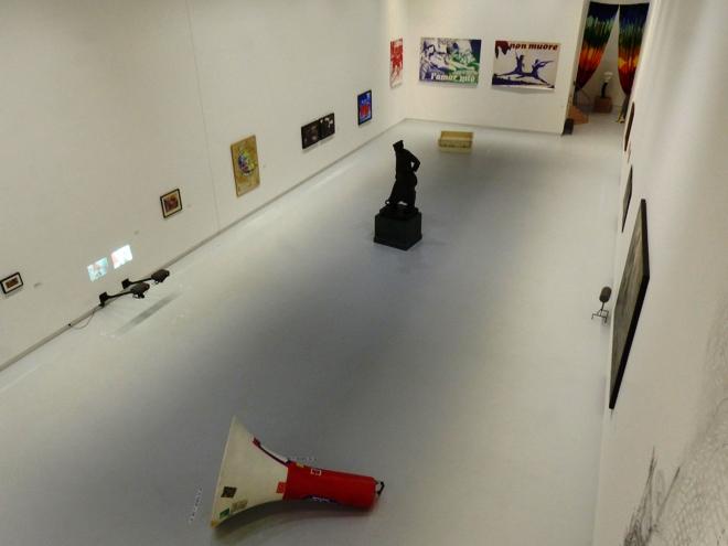 Une des salles de la White box du BPS22 de Charleroi