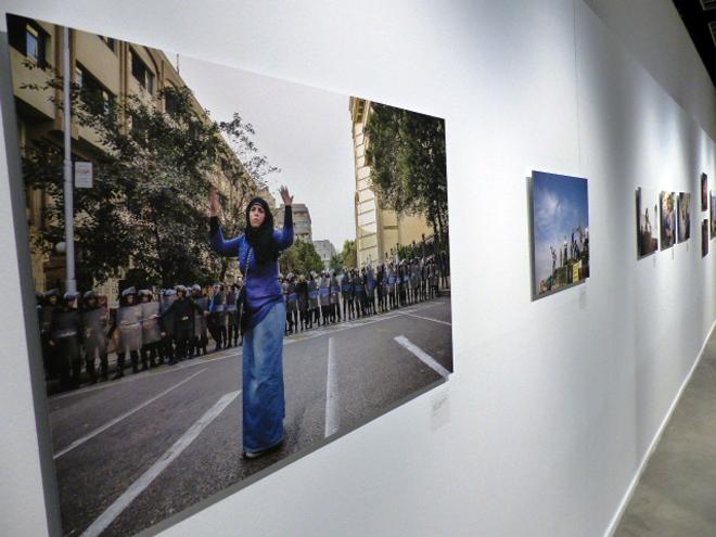 Photos de l'exposition génération Tharir au musée de la photographie de Charleroi