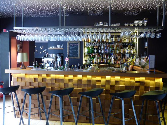 Le bar du Royal Snail hôtel de Namur