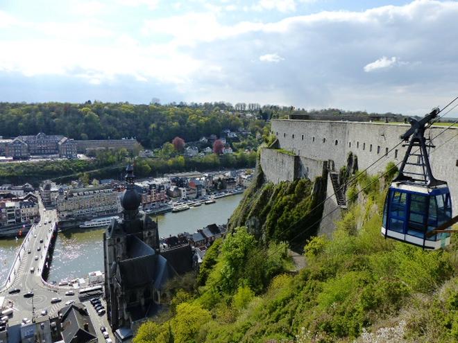 Vue sur Dinant depuis la citadelle