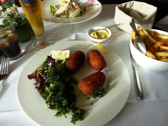 Croquettes de crevettes à la Brasserie Albert à Ostende