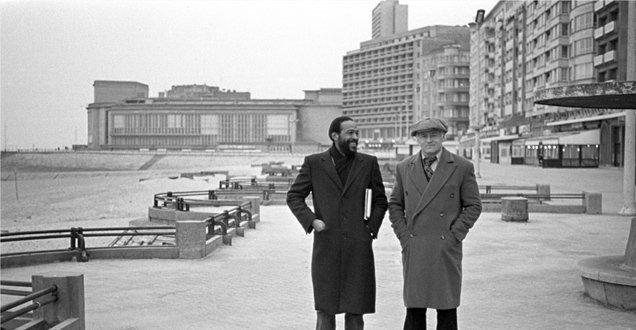 Marvin Gaye et son ami Freddy Cousaert à Ostende