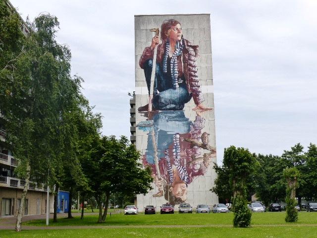 Une des principales œuvres de street-art à Ostende réalisée par l'Australien Fintan Magee