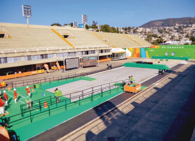Le mythique Sambódrome utilisait dans le cadre des Jeux Olympiques de Rio