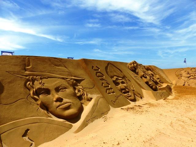 Sandsculpture Stars Festival Ostende : sculptures de sable