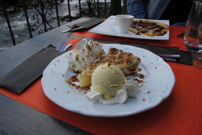 Repas au restaurant Le Pavillon aux Grottes de Han (Belgique)