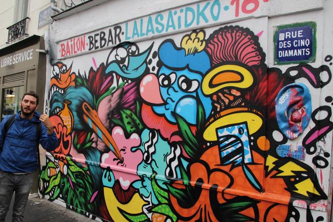 Tour Street-art à Paris dans le 13 eme arrondissement