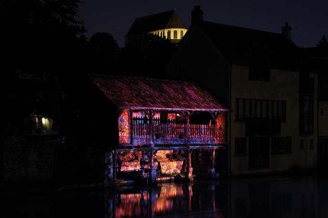 Illumination au bord de l'Eure