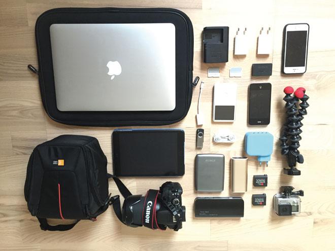 Notre matériel électronique pour un an de voyage