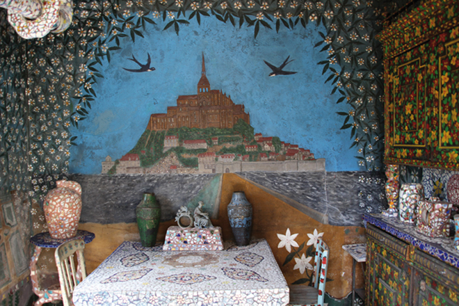 Le salon de la Maison Picassiette