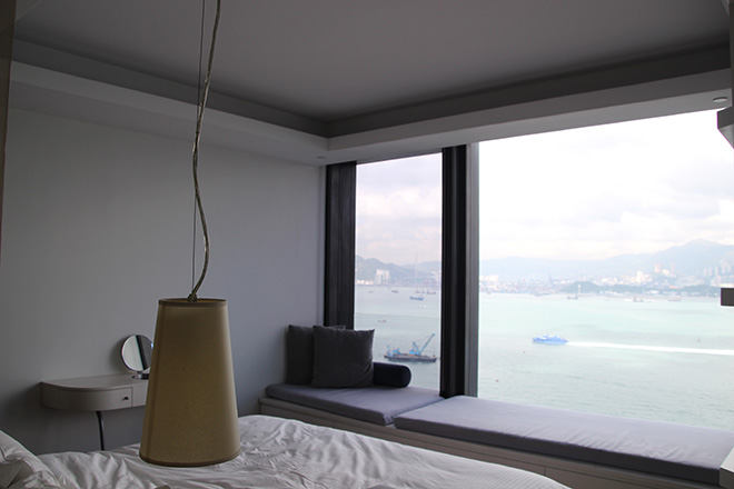 lit-avec-vue-citadines-harbourview dormir à Hong Kong