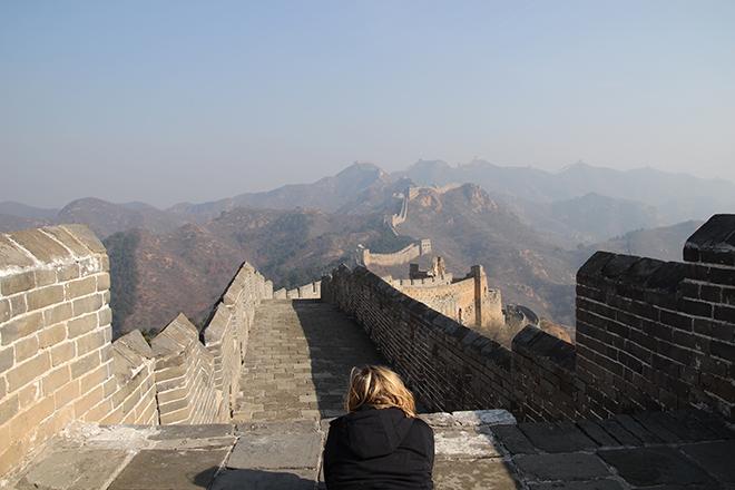 S'allonger sur Regarder la Grande Muraille de Chine