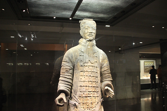 Archer debout de l'armée de terre cuite à Xi'an