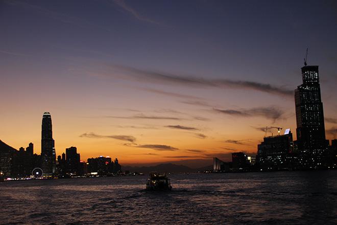 Coucher de soleil Hong Kong