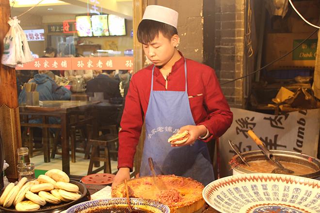 Hamburger dans le quartier musulman de Xi'an