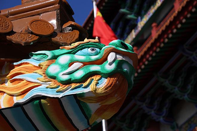 Le monastère de Po Lin sur l'île de Lantau à Hong Kong