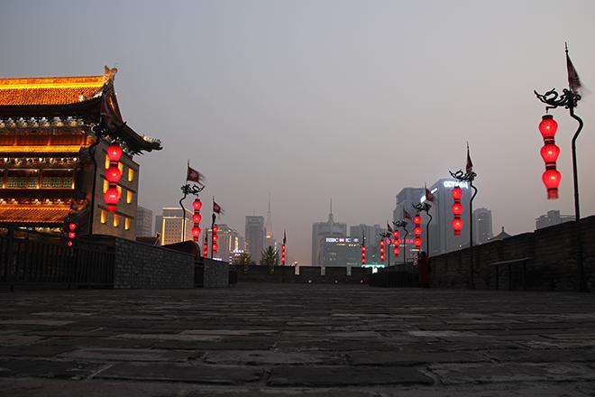 Remparts de Xi'an en fin de journée