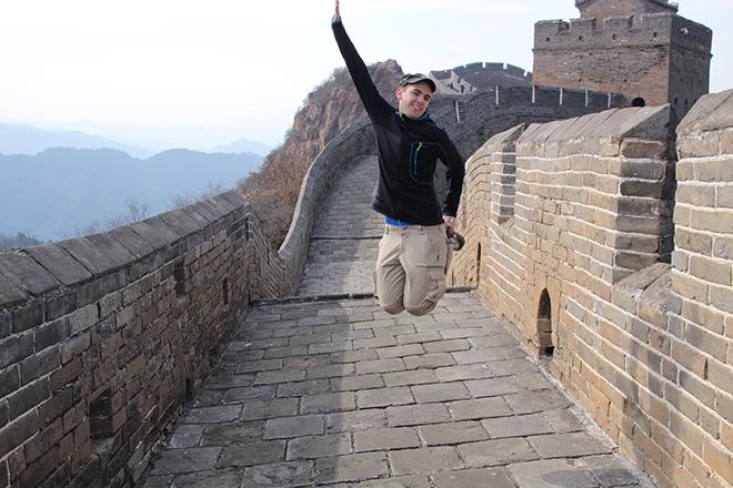 Sauter sur la Grande Muraille de Chine