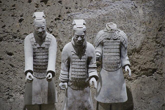 Soldats de l'armée en terre cuite à Xi'an