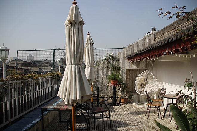 Terrasse de l'auberge de jeunesse See Tang Hostel à Xi'an