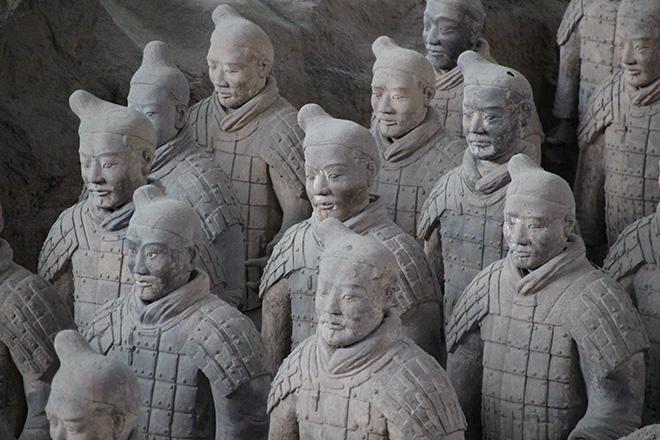 L'armée en terre cuite à Xi'an en Chine