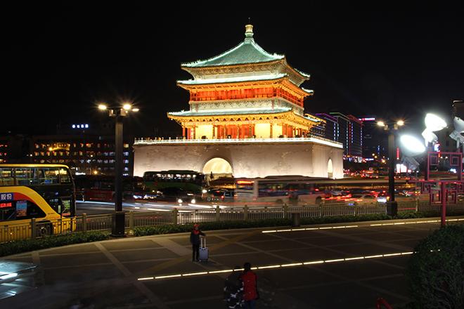 La tour du tambour illuminée