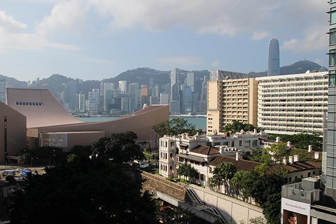 Vue depuis l'hôtel Pravo de Hong Kong