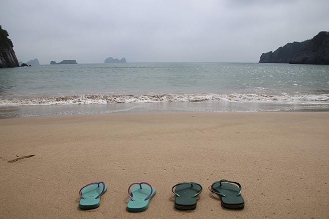 1ère plage à Cat Ba Vietnam