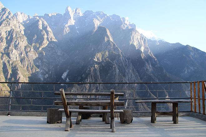 Vue sur les montagnes à la Half-Way Guesthouse