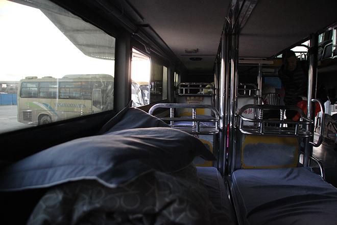 Bus de nuit couchettes entre Kunming et Yuanyang