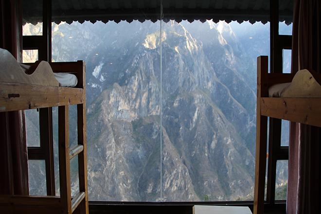 Dortoir avec vue sur les montagnes à la Half-Way Guesthouse
