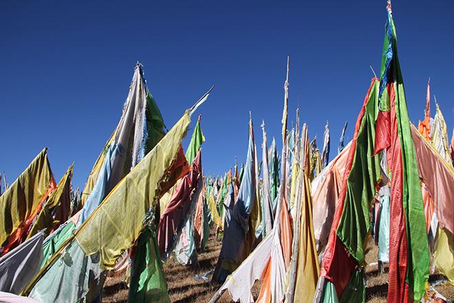 Drapeaux de prières tibétain