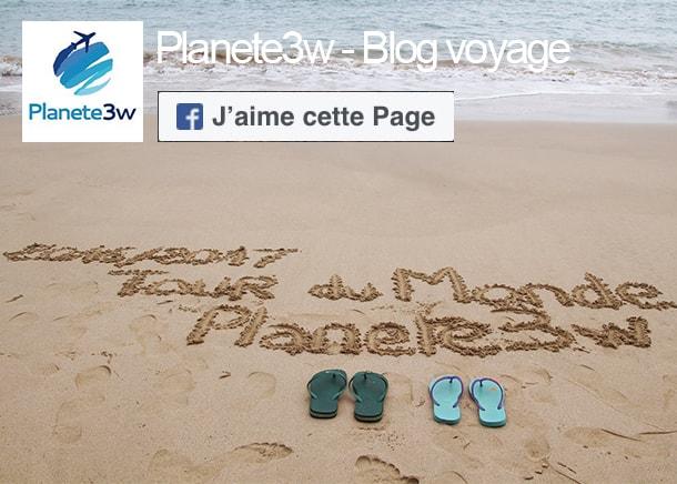 Facebook Planete3w blog voyage