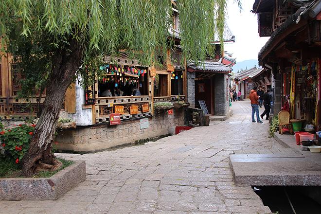La vieille ville de Lijiang dans le Yunnan en Chine