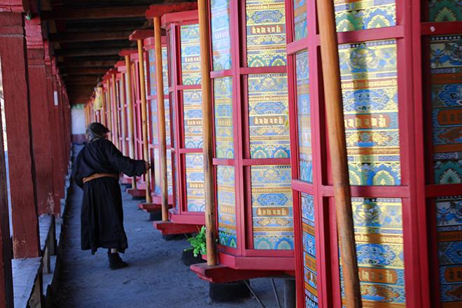 Moulin à prières Tagong