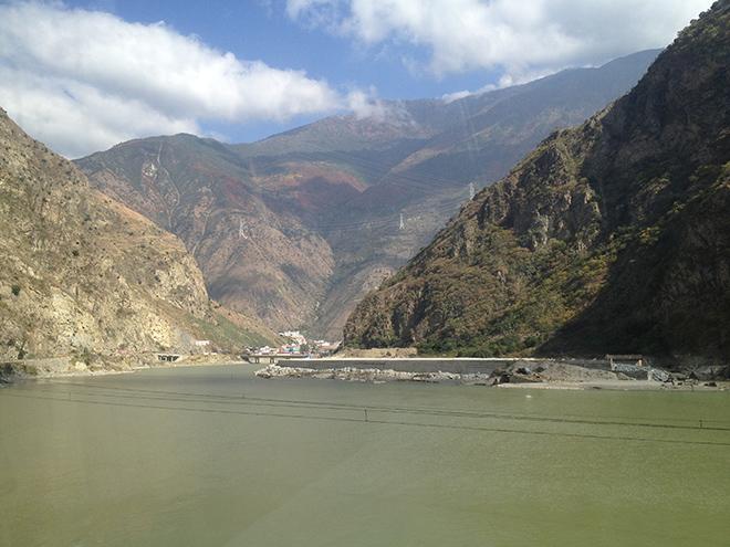 Paysage entre Chengdu et Kangding