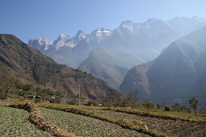 Paysage autour du village de Nuoyu