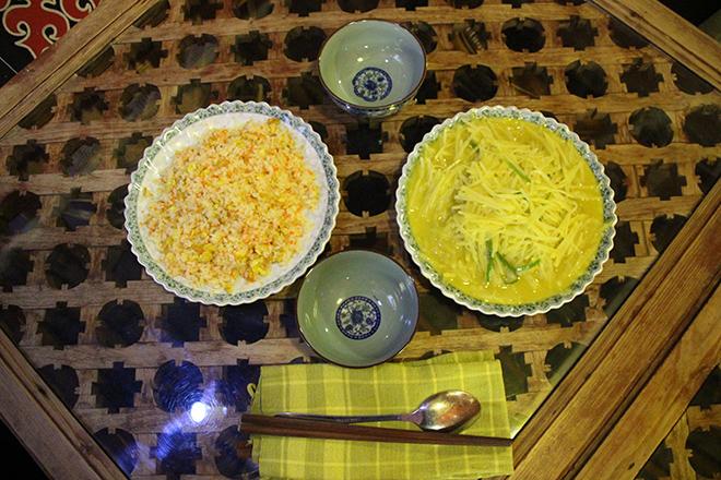 Où manger à Shaxi : Yunnan rice et Pommes de terre au curry vert