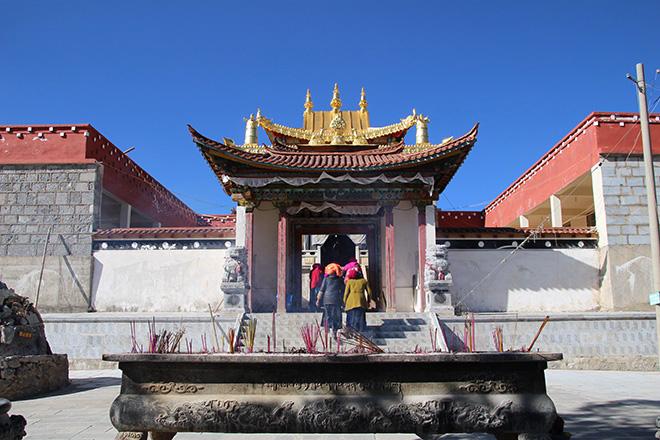 Le monastere Baiji à shangri-la