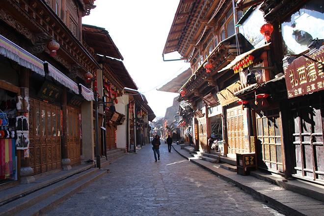 La vieille ville de Shangri La dans le Yunnan