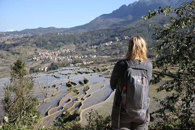 Vue sur les rizières depuis le village de Pugao Laozhai