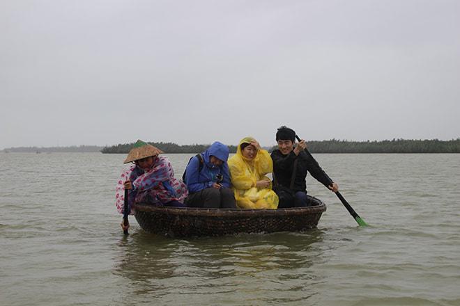 Bamboo boat Hoi An Vietnam