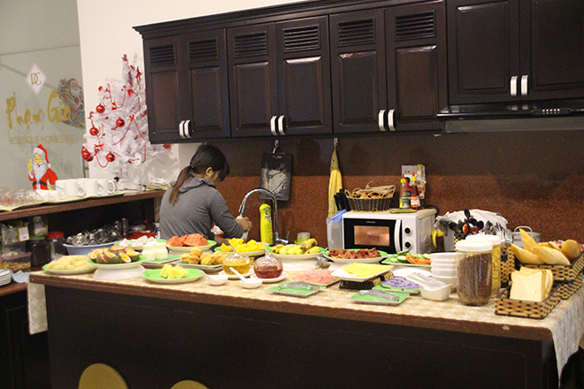 Petit déjeuner buffet Pham Gia Boutique Homestay Hoi An Vietnam