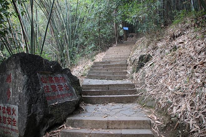 Ascension de Moon Hill à Yangshuo