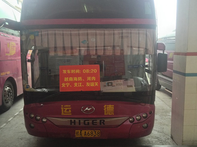 Bus Nanning - Hanoi
