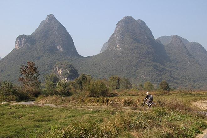 Découvrir la campagne de Yangshuo à vélo